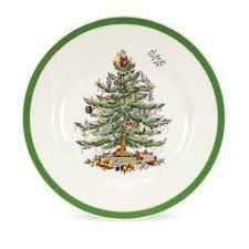 spode tree set of 4 salad plates