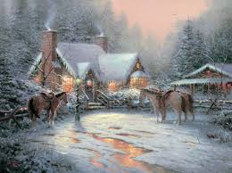 Thomas Kinkade Christmas Tree For Sale by Cottages