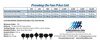 custom hand fans no minimum pressing on specialty graphic design printing west allis
