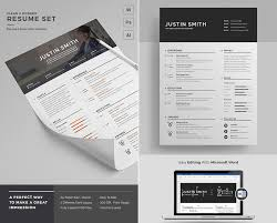 best modern resume templates 20 professional ms word resume templates with simple designs
