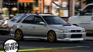 old subaru impreza here u0027s how the forbidden fruit subaru wrx from the 1990s drives today