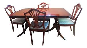 vintage drexel mahogany dining set chairish