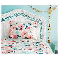 Teal Bed Set Floral Printed Comforter Set Xhilaration Target