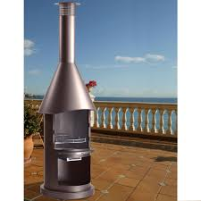 bbq outdoor fire pit chimney hood barbecue on modern home