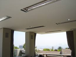 Restaurant Patio Heaters by Flush Mounted Heaters In Patio Ceiling Infratech Outdoor