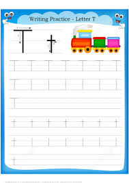 letter t is for train handwriting practice worksheet free