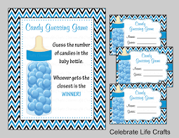 baby shower candy bottle or candy jar guessing game sign and