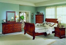 cherry finish traditional sleigh bed w optional casegoods