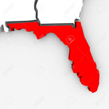 Map Of State Of Florida by A 3d Render Of A Map Of The State Of Florida Stock Photo Picture
