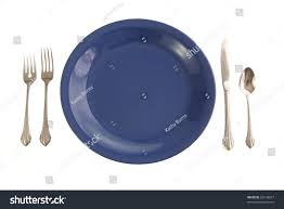 Blue Table L 47 Blue Plate Table Setting Easter Table Stock Images Royalty