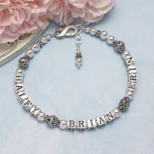 name engraved bracelets bali mothers personalized bracelets with two or three names and