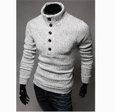 high sweaters mens sweaters high collar style pullover casual slim fit sweaters