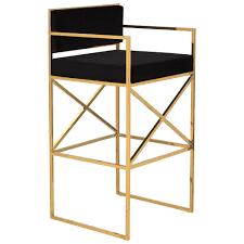 safavieh georgia vanity stool safavieh couture high line collection kian black gold brass
