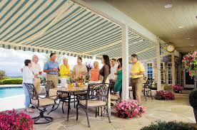 Motorized Awnings Reviews Sunsetter Motorized Retractable Awnings In La By Galaxy Draperies