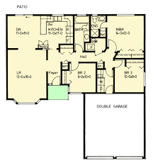 Floor Plan For Bungalow 3 Bedroom Bungalow Home Plan 67706mg Architectural Designs