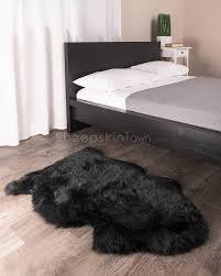 Rugs Black Black Sheepskin Rug Sheepskin Town