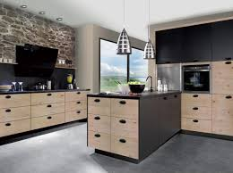cuisine en bois massif moderne cuisine cuisine contemporaine en bois massif avec ã lot