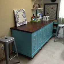 Teal File Cabinet Diy Filing Cabinet Bench Craft Table Workbench And Potting Within