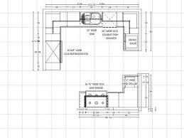 Kitchen Floor Plan Kitchen Marvelous Kitchen Floor Plans With Dimensions Galley