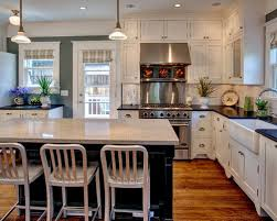Arts And Crafts Kitchen Design White Kitchen Sink Houzz
