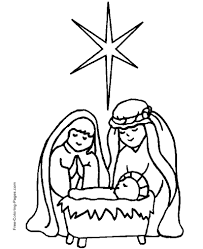 jesus in the manger coloring page bible coloring pages color christian picture