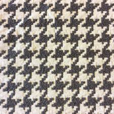 houndstooth grey white geo grid heavy textured chenille upholstery