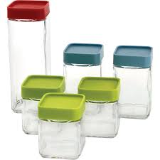 amazon com glasslock 12 piece square block canister set kitchen