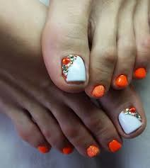 best 20 orange toe nails ideas on pinterest orange pedicure