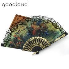 held fans free shipping 5pcs lace held fans tulle folding fans flower