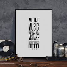 Music Decor Online Get Cheap Music Quote Posters Aliexpress Com Alibaba Group