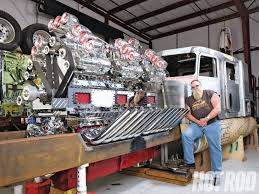 subaru diesel truck mike harrah u0027s outrageous supercharged 24 cylinder truck engine