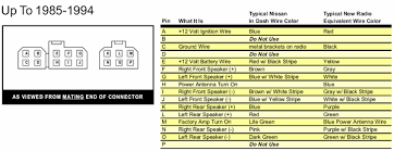 1993 nissan altima radio wiring diagram nissan stereo wiring
