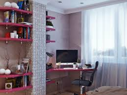 Hidden Home Office Desk by Red Floating Bookshelves With Mesmerizing Office Desk Also