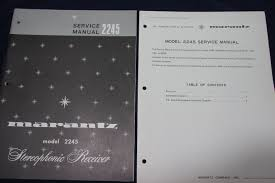 original marantz stereo receiver 2245 service manual with revised