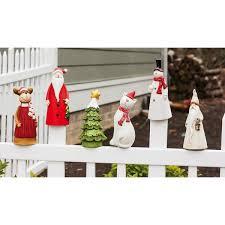 Christmas Fence Decorations Brown Snowman Outdoor Christmas Decorations You U0027ll Love Wayfair