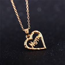 necklace for s day heart shape pendant necklace s day gift alloy silver