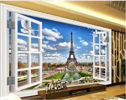 home decor 3d classic home decor 3d windows window landscape paris tower tv wall