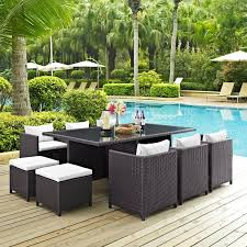 Rattan Patio Dining Set Reversal 11 Espresso Outdoor Wicker Patio Dining Set Free