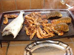 cuisine langouste plancha queue de langouste dorade gambas sur plancha tout simplement
