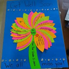 get well soon kid get well card from our kinder class made with band aids and googley