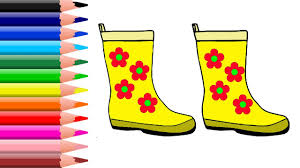 coloring pages rubber boots coloring pages for kids learn colors