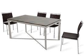 santiago modern rectangular wood mosaic dining table