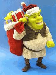 santa shrek fabric mache 7 5 inch figure
