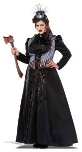 Size Gothic Halloween Costumes Size Lizzie Borden Victorian Lady Costume Candy Apple