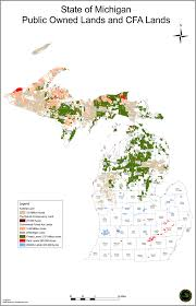 Map Of The State Of Michigan by Map Of State Land In Michigan Michigan Map