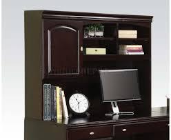 Espresso Computer Desk With Hutch by Finish Cape Modern Desk W Options By Acme