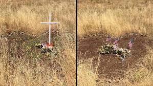 roadside crosses for sale family takes s roadside cross memorial after