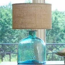 Glass Table Lamp Shades Sea Glass Table Lamp Foter