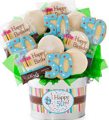 cookie baskets delivery 50th birthday flower pot