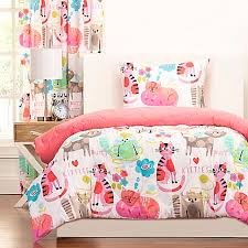One Direction Comforter Set Crayola Purrty Cat Reversible Comforter Set In Pink White Bed